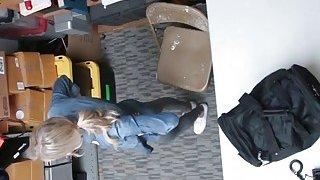 Image: Blonde Teen shoplifter fucked hard inside the office