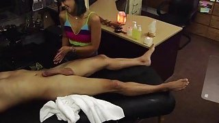 Tiny asian_wants to sell her massage kit and ends up hammered by Shawn image