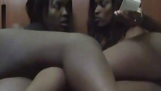 African Milf eating session with their lesbian horny pussy motel banging image