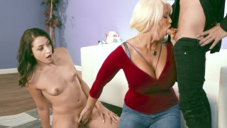 Image: Alura Jenson teaches Avi Love how to suck that big dick