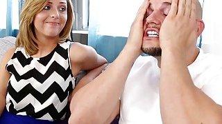 Image: Kelly Green suck her bro Js cock deep throat