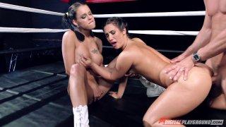 Eva Lovia vs Peta Jensen in the ultimate fuckoff mach image