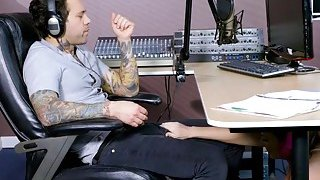 Busty redhead hottie Dani Jensen gets pounded by radio DJ image