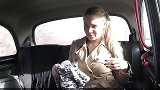 Image: Fake taxi driver bangs mad blonde amateur babe