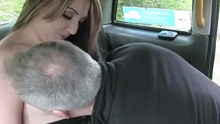Amateur woman gets fucked in doggystyle by fake driver image