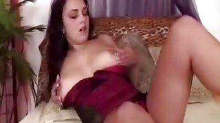 Slutty brunette Manuella rims boyfriend's asshole and before shoving big_strapon in there image