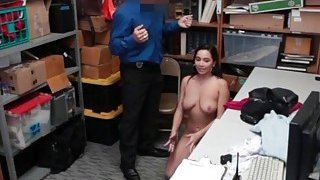 Image: Big titty lingerie thief Karlee Grey has to work hard cock