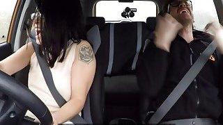 Fake driving instructor bangs Asian student image