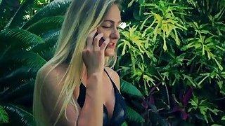 Toned blonde girlfriend black mailed by ex boyfriend_managed image