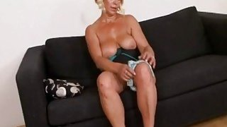 Horny blonde granny who never had a bbc before image