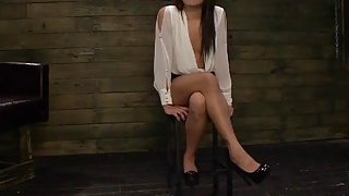 BDSM and rough fucking with hot brunette whore Isa Mendez image