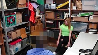 Alexa Rayes tight pussy getting railed on the back office image