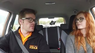 Threesome fuck after fake_driving test image
