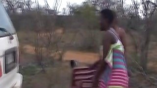 Image: African sluts blowing big throbbing dicks outdoors
