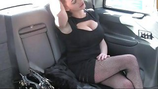 Huge boobs_passenger banged by pervy driver_in the cab image