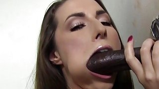 Paige Turnah Tries Her First Black Gloryhole Cock image