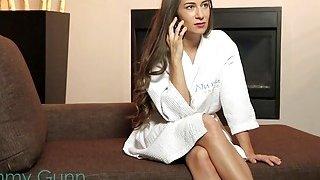 Image: Shower pounding for brunette masseuse Cassidy Klein