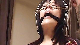 Subtitles bizarre Japanese nose hook BDSM spanking image