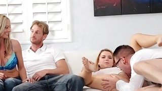 Fun games turn into fuck session for Alina West and her fucked fam image