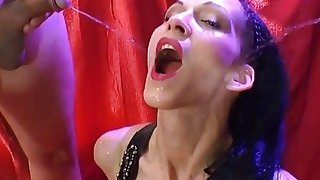 Hot Euro Babe Gets Roughly Banged And Pissed On image