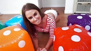Delicious hot brunette fucked hard_in room with_dices image