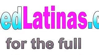 Blonde Latina Luna Star Rides Long Cock Outdoors image