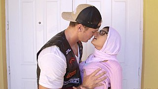 Double hijab blowjob image