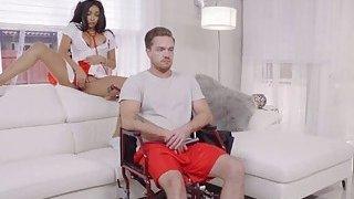 Banging bigtit gf in wheelchair image