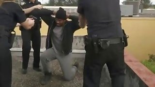Black dude is forced to fuck horny female cops and satisfy their creamy pussies image