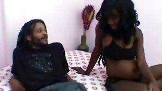 Image: Ebony pregnant girl fucking friend