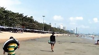 Image: Sexy Thai babe picked up on the beach and fucked POV
