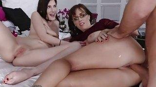 Nina shared her bfs cock with mom Alana image