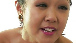 Asian babe_Saya Song and Avi Love playing with their hairy_pussy image