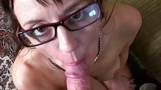 Image: USAwives Mature Lady Blowjob and Toy Masturbation
