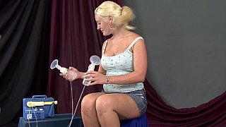 Mia's milky tits image