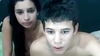 Skinny dude and his_Turkish girlfriend bang wildly on webcam image