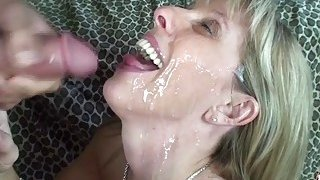 19 year old boy fucks and facializes busty blonde mom image