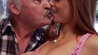 Image: Old Man Falls In Love With Beautiful Young Redhead
