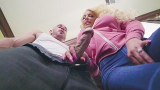 Nicolette Shea fucks Johnny with her mouth and tits image
