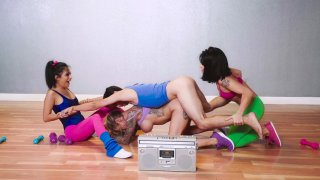 Uncut nyusu kluar asi, Rina ellis, monica asis, karma rx in group action image