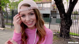 Ultra hot teen Alex Blake gets public dicking for 20 bucks image
