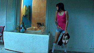 Image: Step-sisters in bathroom