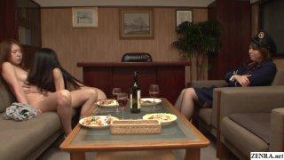 Image: JAV Secret Prison CFNF lesbian oral HD Subtitles