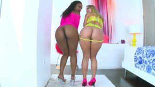 Image: Chanell Heart and Candice Dare shows off their desirable asses