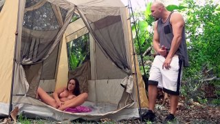 Ashley Adams_playing with her pussy in_the tent image
