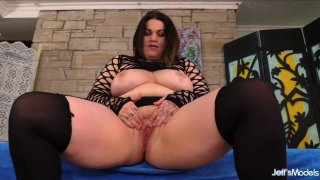 Big Tit Fat Girl Nova Jade Plays with Her Pussy Before Sucking Cock and Fucking image