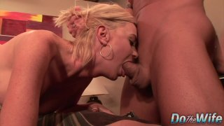 Oversexed Wife Camryn Cross Is Fucked and Takes a Facial as Husband Looks On image