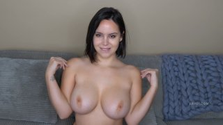 Yummy brunette with big tits makes a perfect JOI instructor image