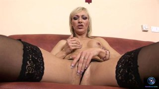 Hot Betti Cane pleasures herself with an enormous image