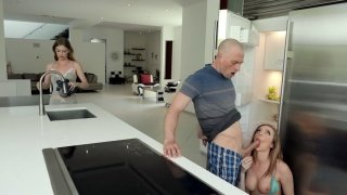 Tiffany Watson gives nice_blowjob in the kitchen image